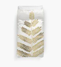 Gold Leaflets Duvet Cover