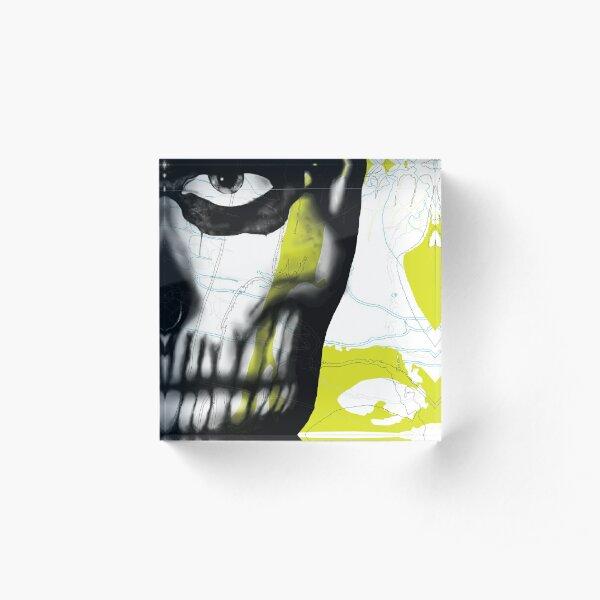 Rick Genest#1 - Limegreen Acrylic Block