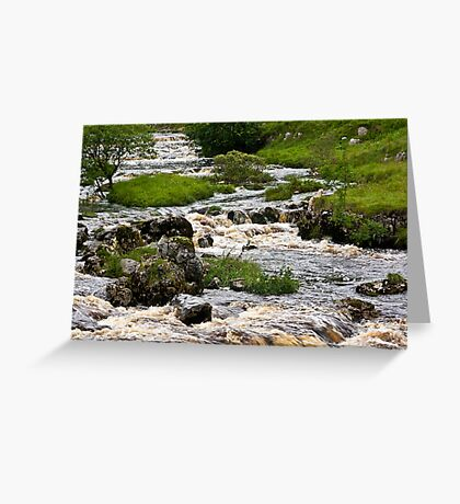 River Wharfe at Yockenthwaite Greeting Card