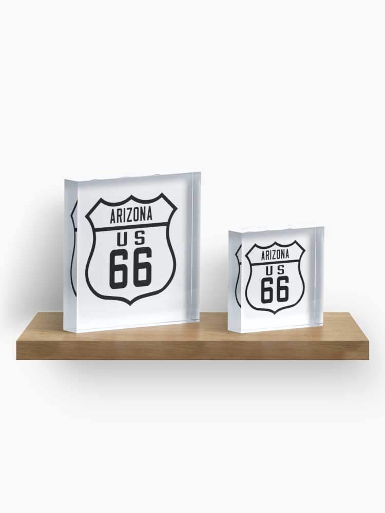 Alternate view of Route 66 Arizona Road Sign Acrylic Block