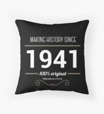 Making historia since 1941 Throw Pillow