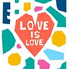 Love Is Love Paper Collage by Adam Regester