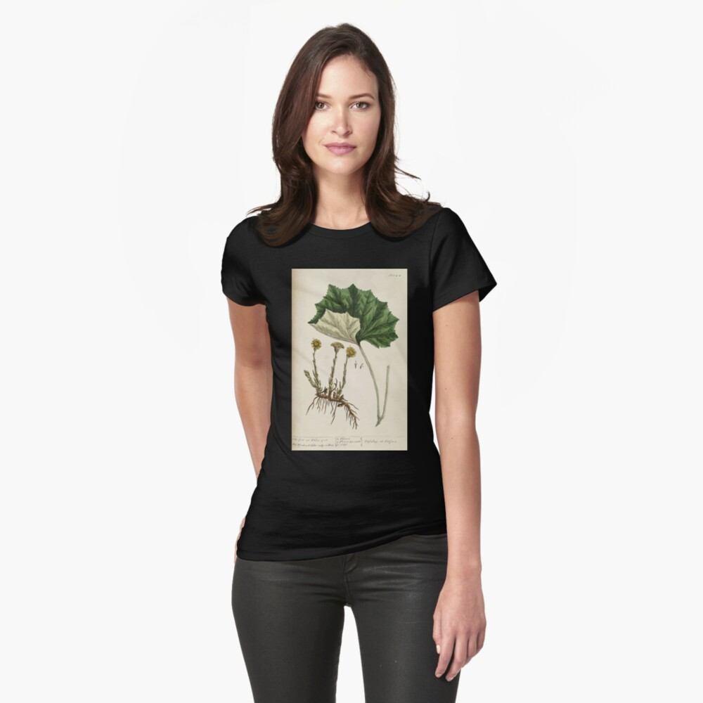 A curious herbal Elisabeth Blackwell John Norse Samuel Harding 1737 0522 Colts Foot or Poles Foot Womens T-Shirt Front
