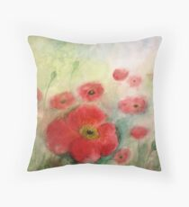 Lovely Poppies Throw Pillow