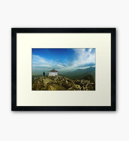 Walking in The Heaven Framed Print