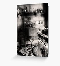 Old time kitchen Greeting Card