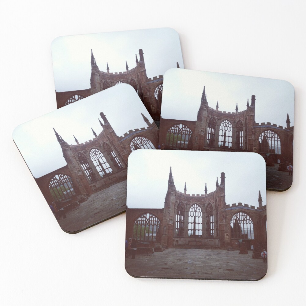 Coventry Old Cathedral Coasters (Set of 4)
