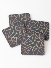 Copper and Midnight Navy Coasters