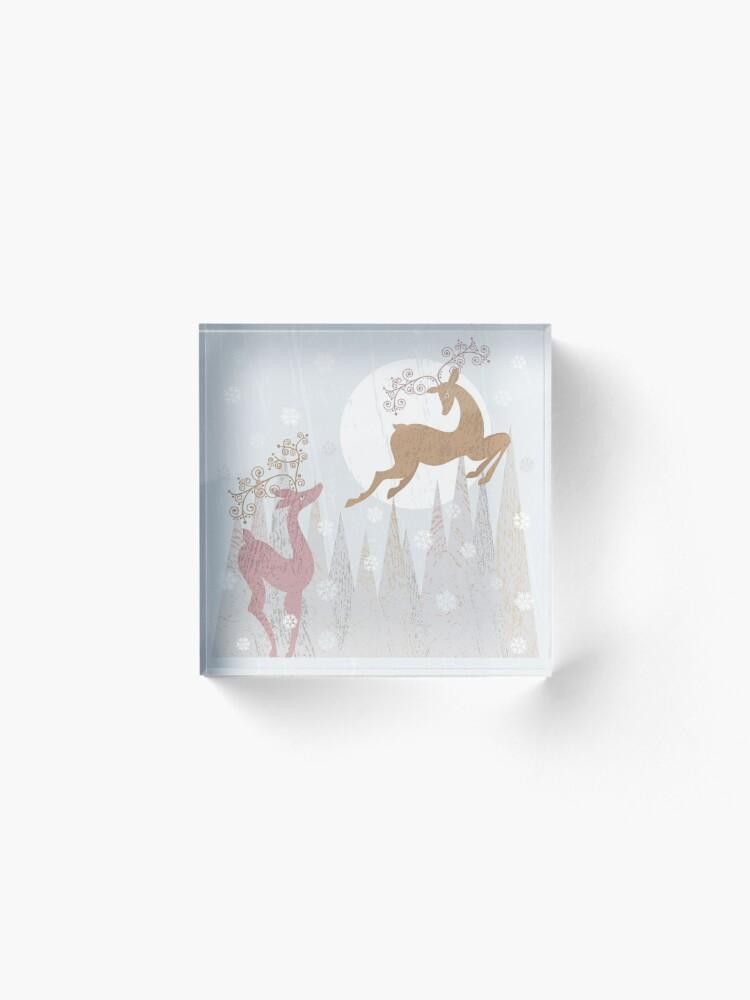 Alternate view of Christmas Deer Acrylic Block