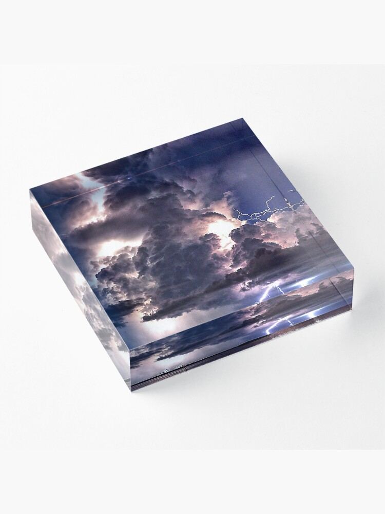 Alternate view of Lightning in HDR Acrylic Block