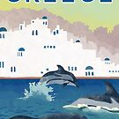 Greece Travel Poster by finchfish