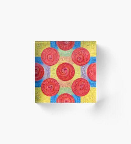 #DeepDream Color Squares and Circles Visual Areas 5x5K v1448272824 Acrylic Block
