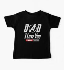 Lieben Sie Sie 3000 T-Shirt, Vati-Ich-Werden Sie drei tausend Shirt Baby T-Shirt