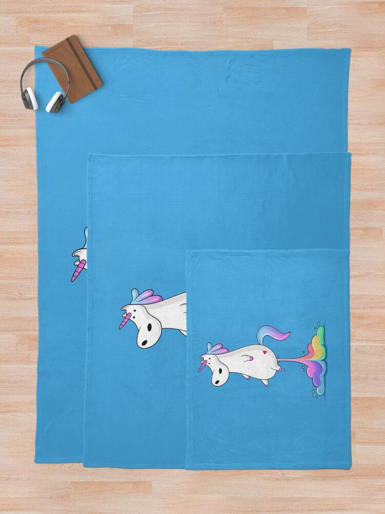 Alternate view of Unicorn Fart Throw Blanket