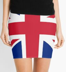 UK Union Jack flag - Authentic version (Duvet, Print on Blue background) Mini Skirt