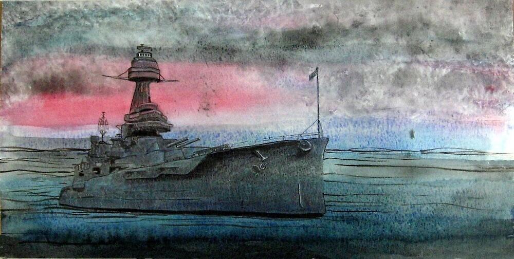 Battleship Texas by ladyAM