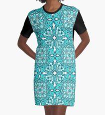 Garden of Teal Graphic T-Shirt Dress