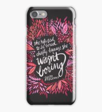 Zelda Fitzgerald – Pink & Gold on Charcoal iPhone Case/Skin