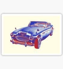 Austin Healey 300 Sports Car Pop Image Sticker