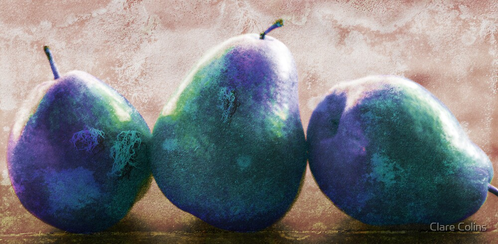 blue stone pears by Clare Colins