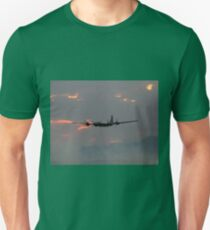 B-29 Bomber Plane flying at Sunset T-Shirt