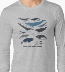 Know Your Baleen Whales Long Sleeve T-Shirt