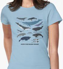 Camiseta entallada para mujer Conozca a sus ballenas barbadas