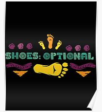 Sommerschuhe Optional Sandy Toes Poster