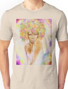 The girl with new hair style Unisex T-Shirt