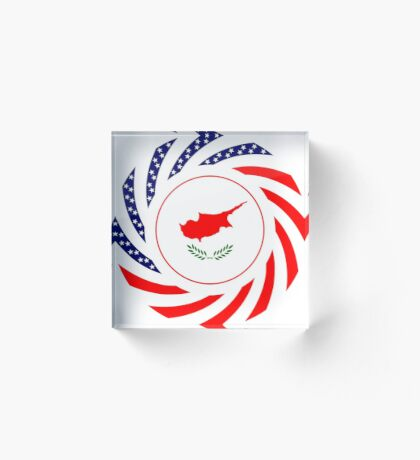 Cypriot American Multinational Patriot Flag Series Acrylic Block