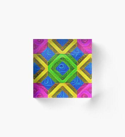 #DeepDream Color Squares Visual Areas 5x5K v1448364075 Acrylic Block