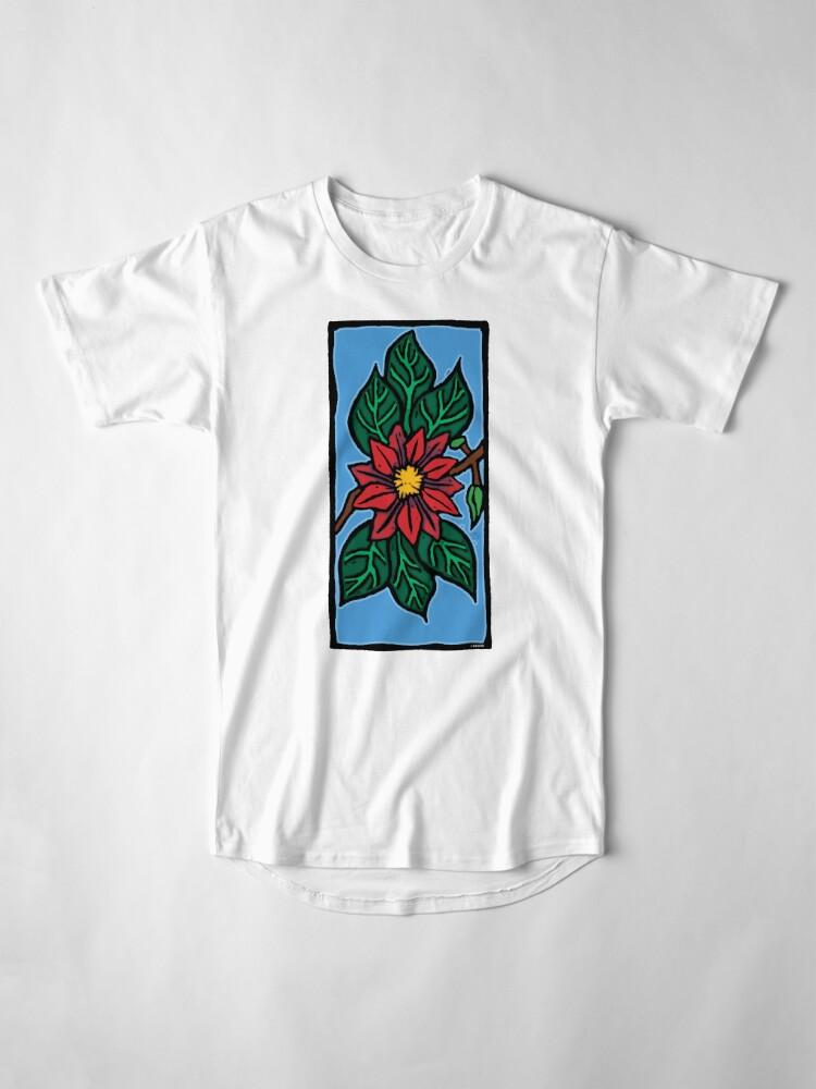 Alternate view of Red Flower Long T-Shirt