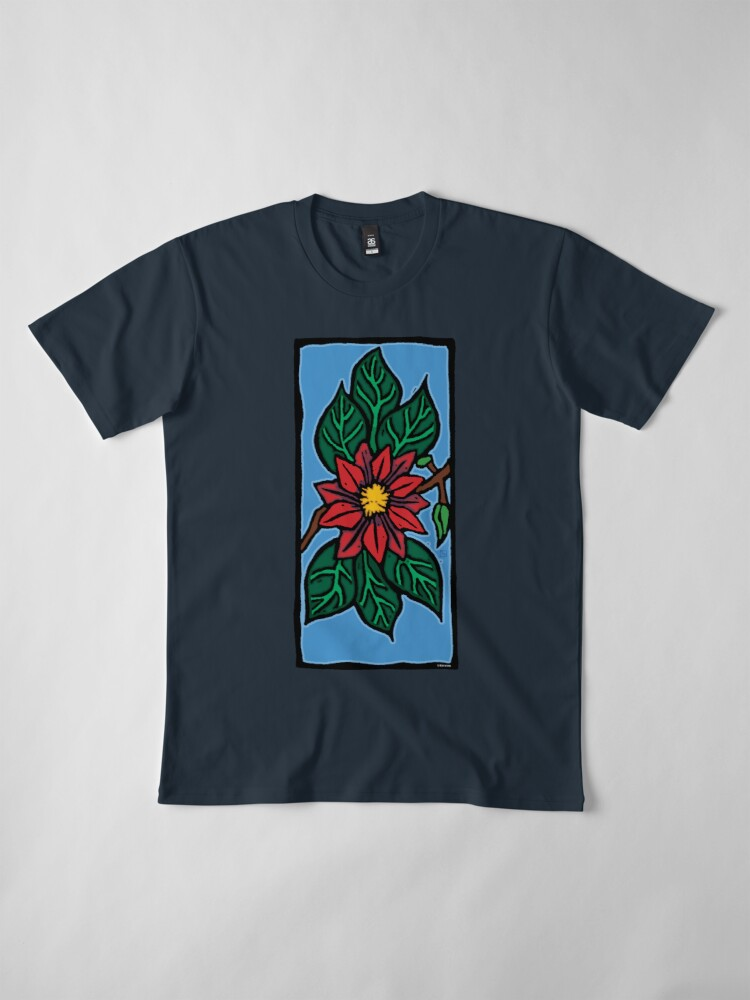 Alternate view of Red Flower Premium T-Shirt