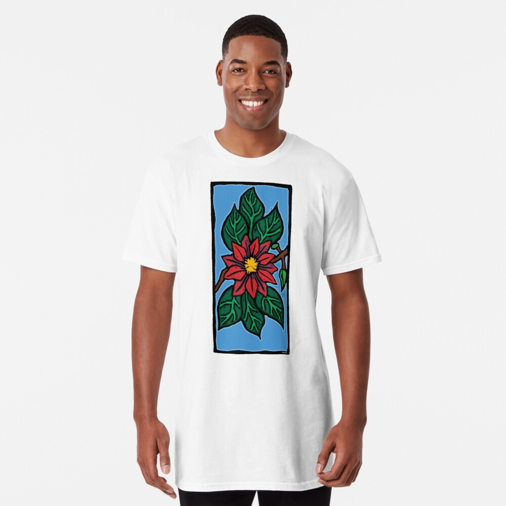 Red Flower Long T-Shirt