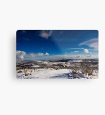 Snowy Scottish landscape Metal Print