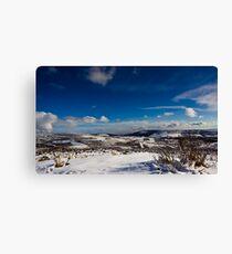 Snowy Scottish landscape Canvas Print