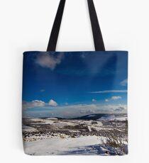 Snowy Scottish landscape Tote Bag