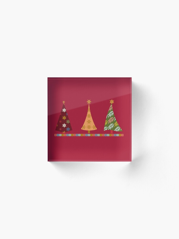 Alternate view of Merry Christmas! Acrylic Block