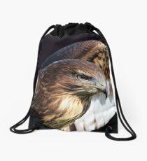 Red-Tailed Hawk Drawstring Bag