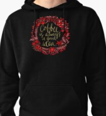 Coffee on Charcoal Pullover Hoodie