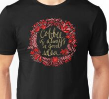 Coffee on Charcoal Unisex T-Shirt