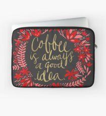 Kaffee auf Holzkohle Laptoptasche