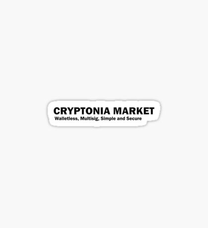 Cryptonia Market! Sticker