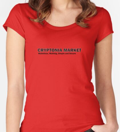 Cryptonia Market! Fitted Scoop T-Shirt