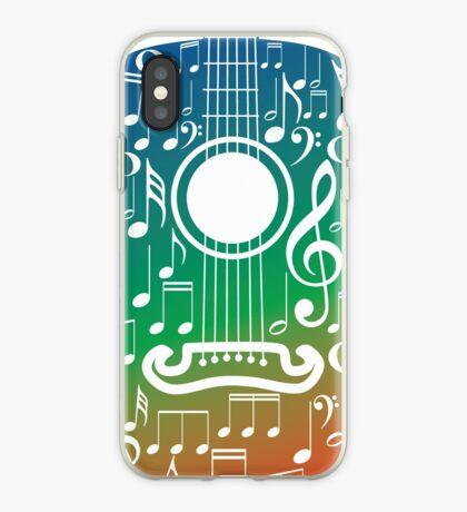 Gitarre und Musiknoten 6 iPhone-Hülle & Cover