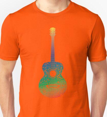 Gitarre und Musiknoten 6 T-Shirt