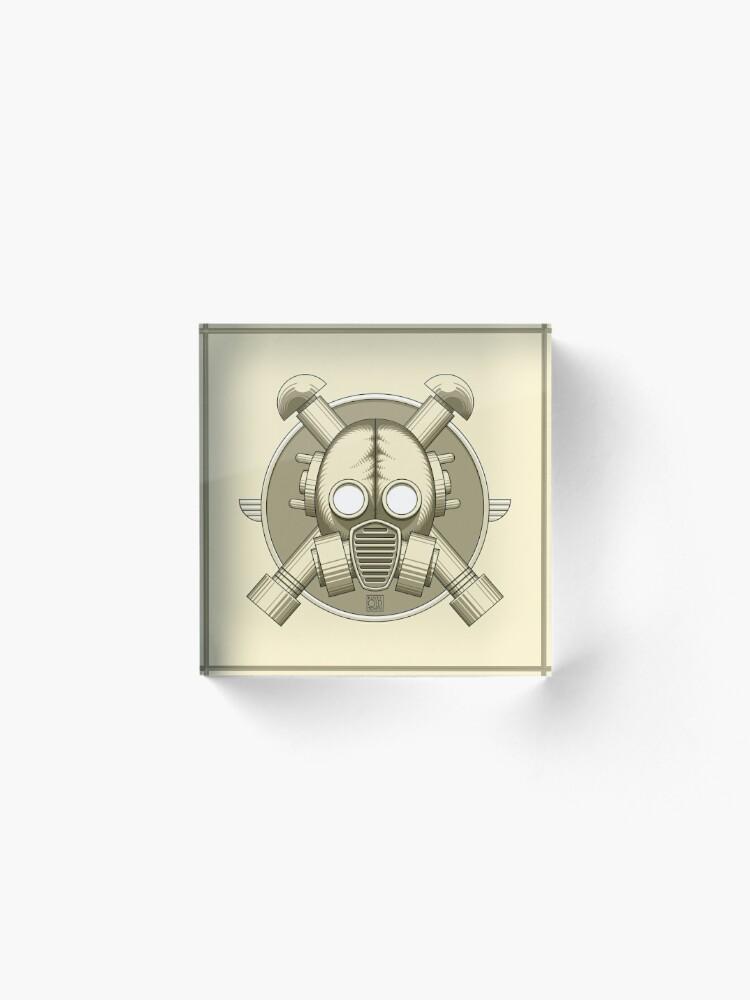 Vista alternativa de Bloque acrílico Art Deco Gasmask (retro)