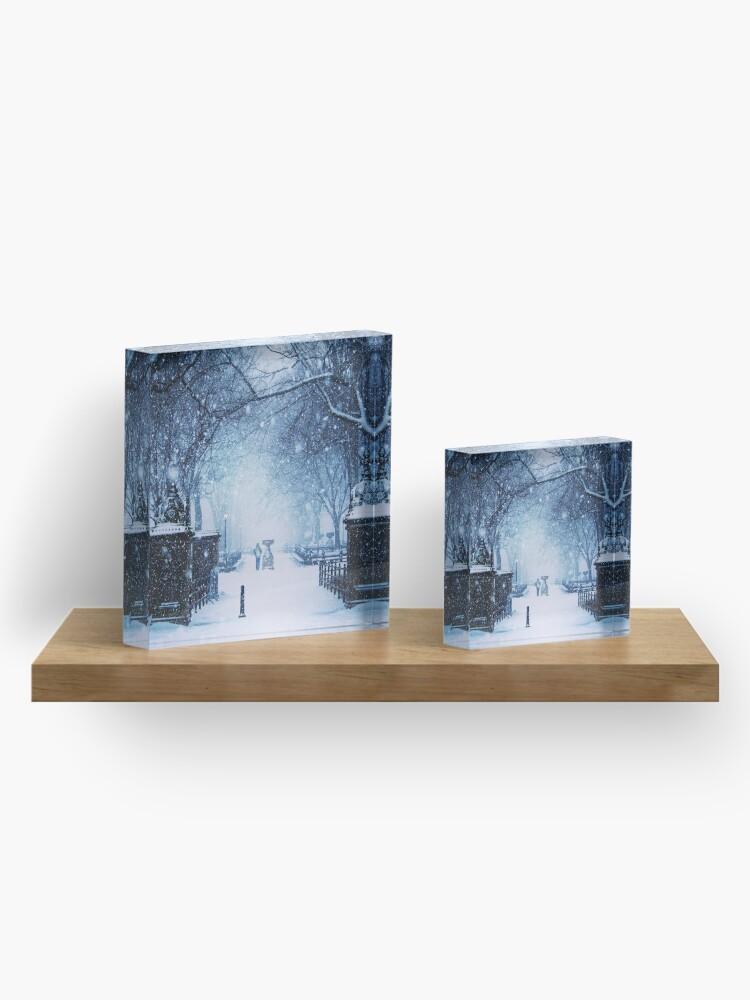 Alternative Ansicht von Schöner Schneesturm im Central Park Acrylblock