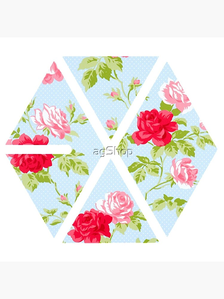 EXO - Blue Floral by agShop