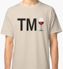 TM Wine (Black Ink/Red Wine) Classic T-Shirt